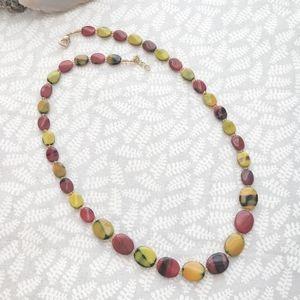 Jewelry - Burgundy & Yellow Vintage Bead Necklace 💥